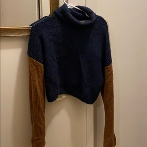 Native youth two toned turtleneck sweater